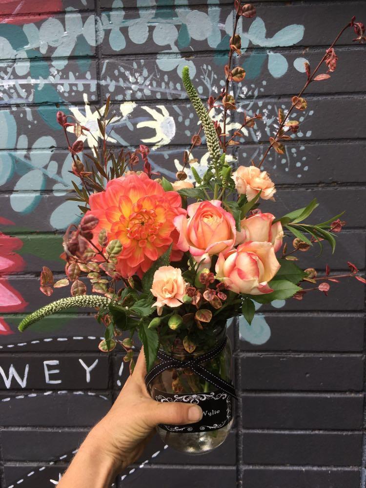 Pretty Flower Jar - $25